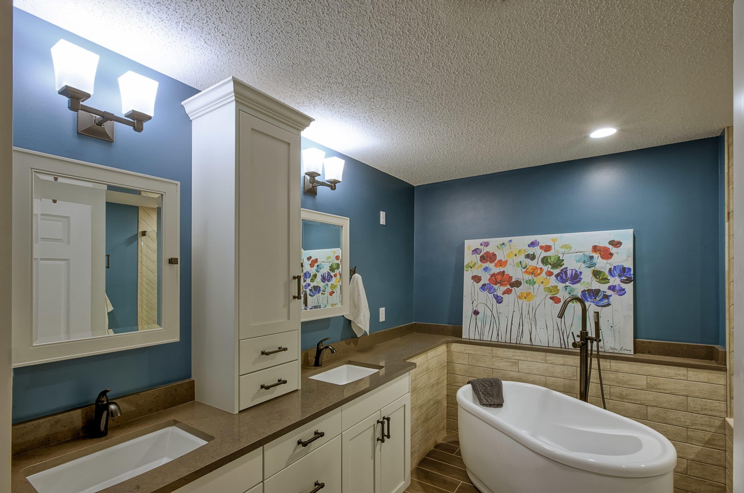 Condo Master Bathroom Remodel Eden Prairie MN BrynnAlden Interiors - Bathroom remodel eden prairie mn